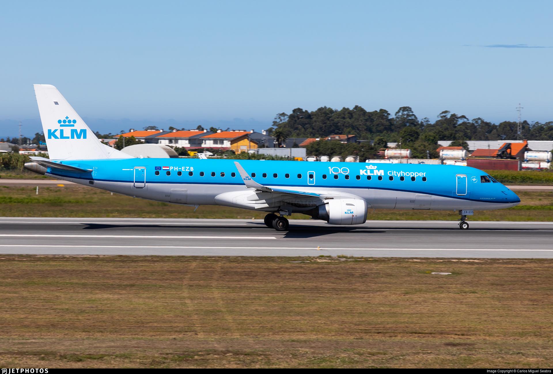 PH-EZB - Embraer 190-100STD - KLM Cityhopper