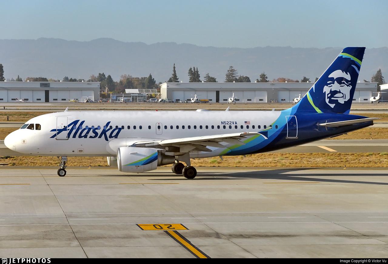 N522VA - Airbus A319-112 - Alaska Airlines
