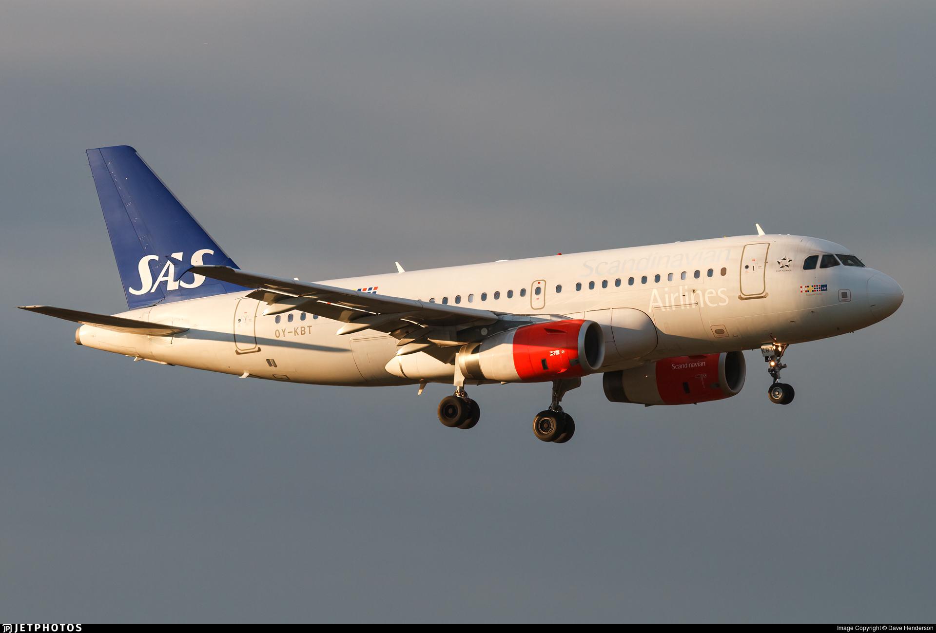 OY-KBT - Airbus A319-132 - Scandinavian Airlines (SAS)