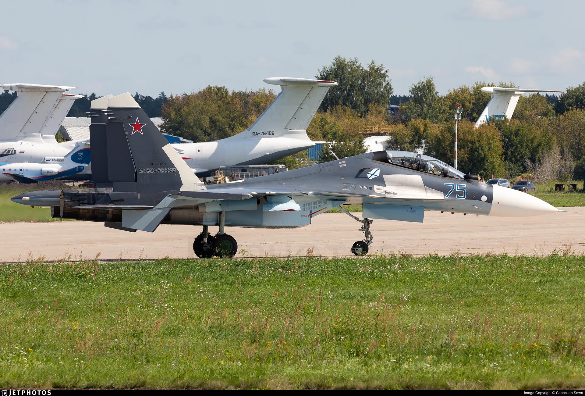 RF-34013 - Sukhoi Su-30SM - Russia - Navy