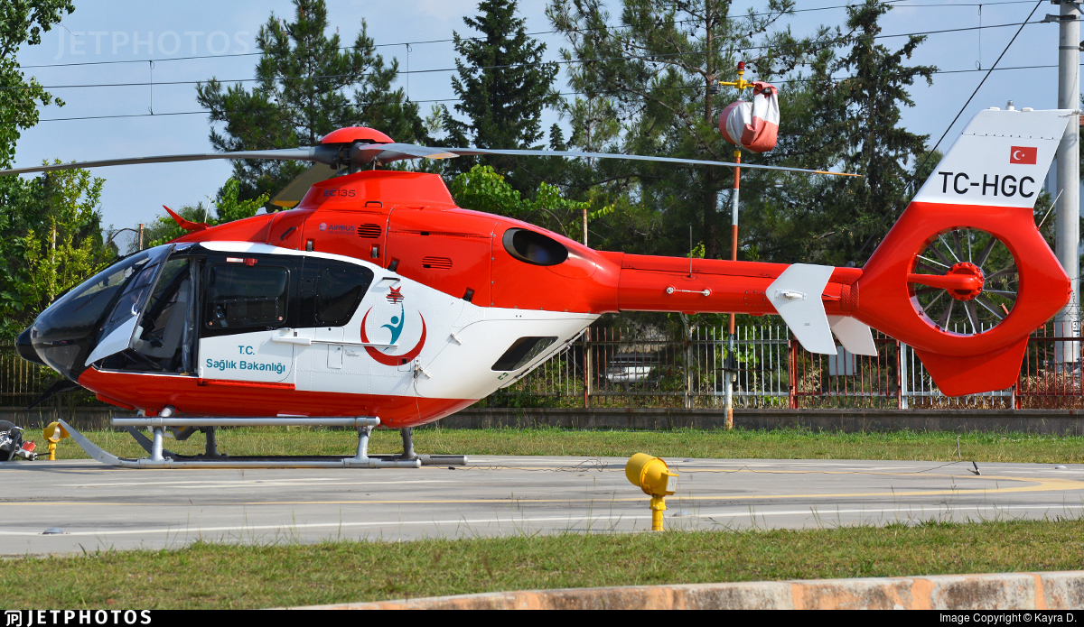 TC-HGC - Airbus Helicopters H135 - Turkey - Ministry of Health
