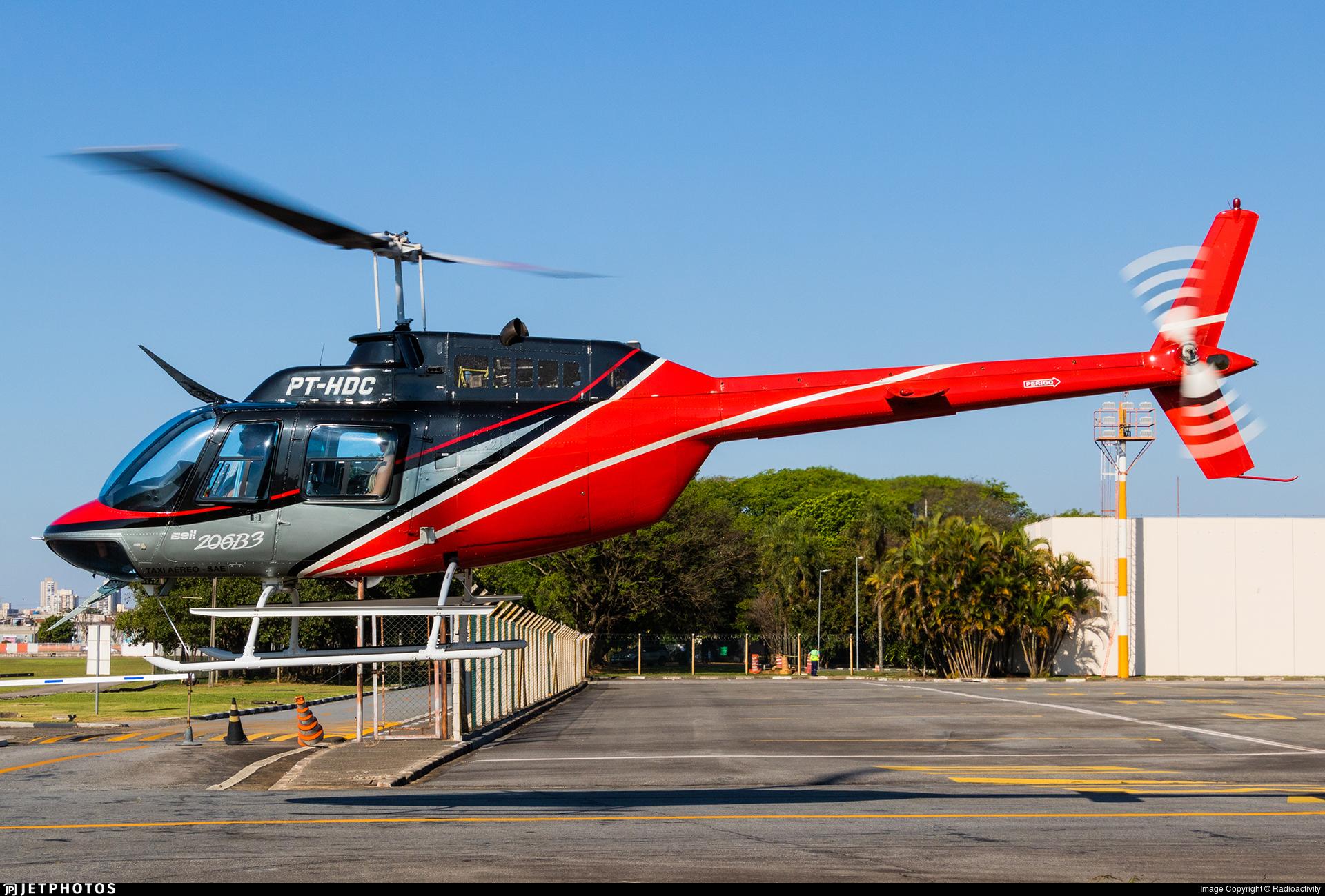 PT-HDC - Bell 206B-3 JetRanger III - VoeSP Táxi Aéreo