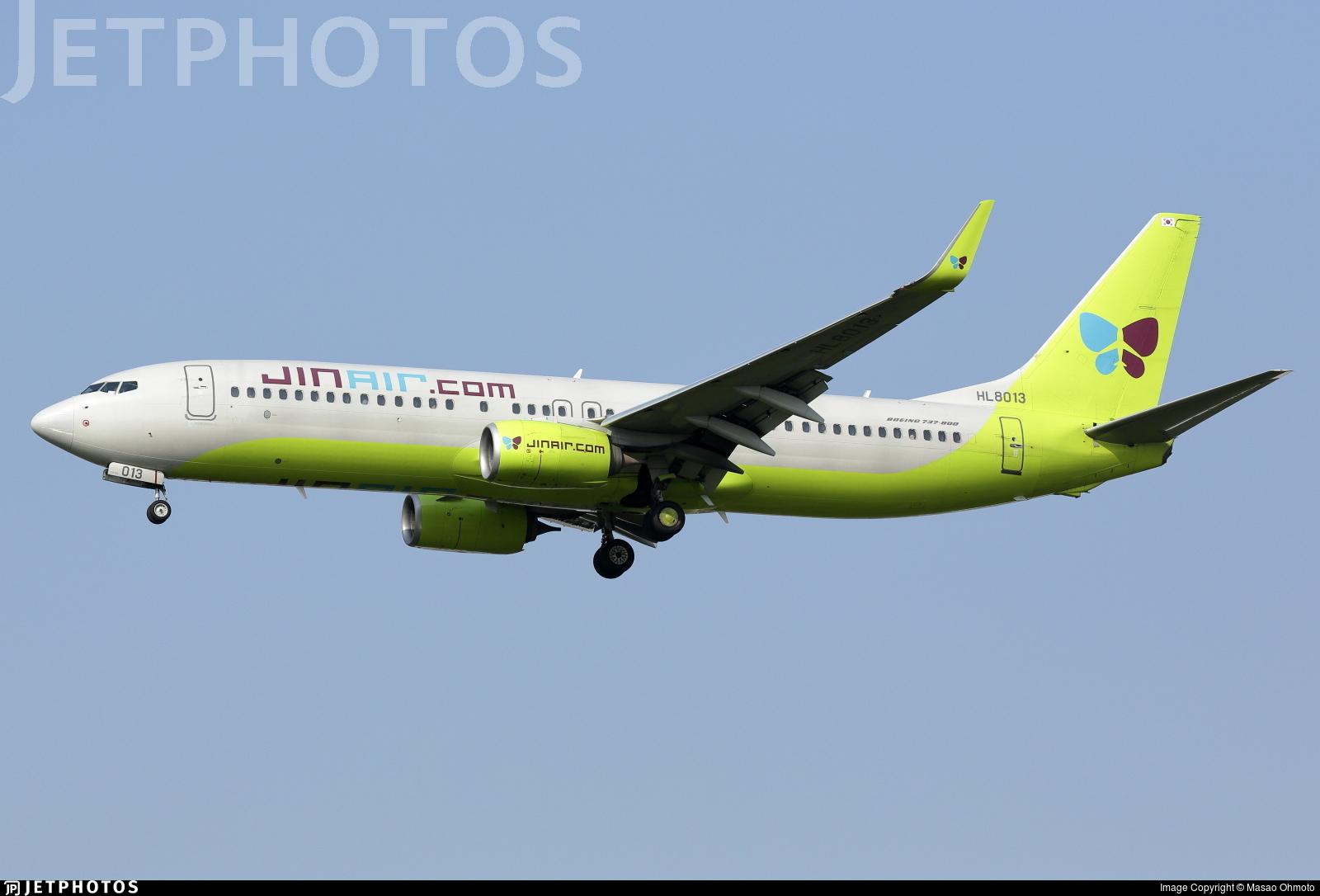 HL8013 - Boeing 737-8SH - Jin Air