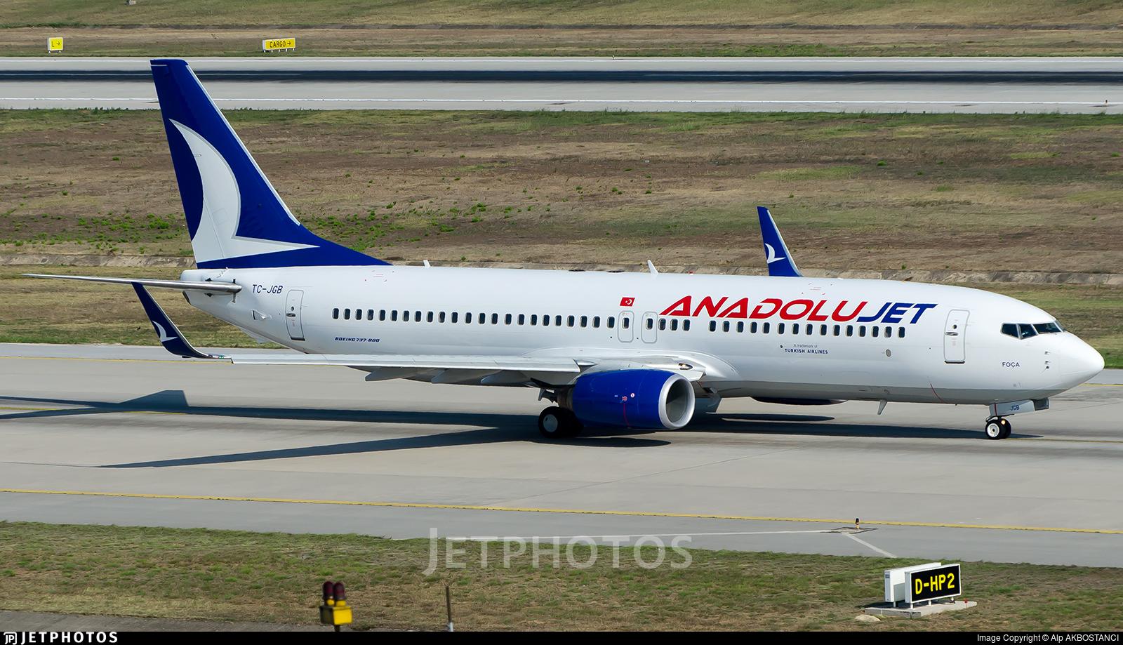 TC-JGB | Boeing 737-8F2 | AnadoluJet | Alp AKBOSTANCI | JetPhotos