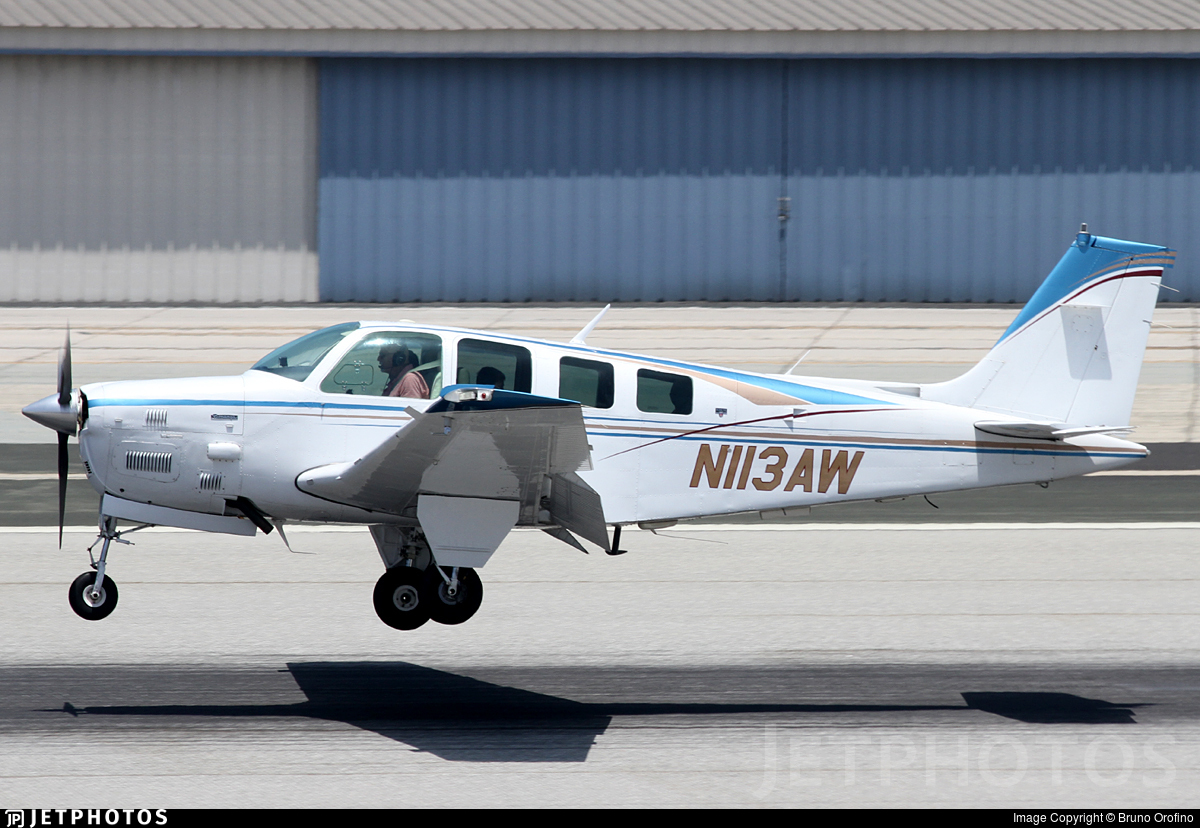N113AW - Beechcraft B36TC Bonanza - Private