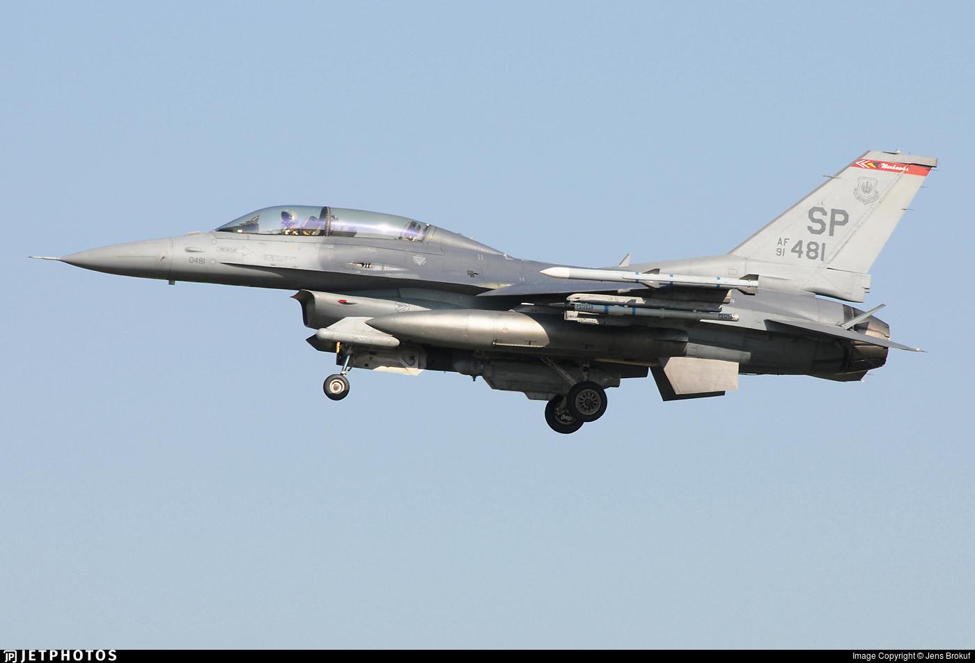 91-0481 - General Dynamics F-16DM Fighting Falcon - United States - US Air Force (USAF)