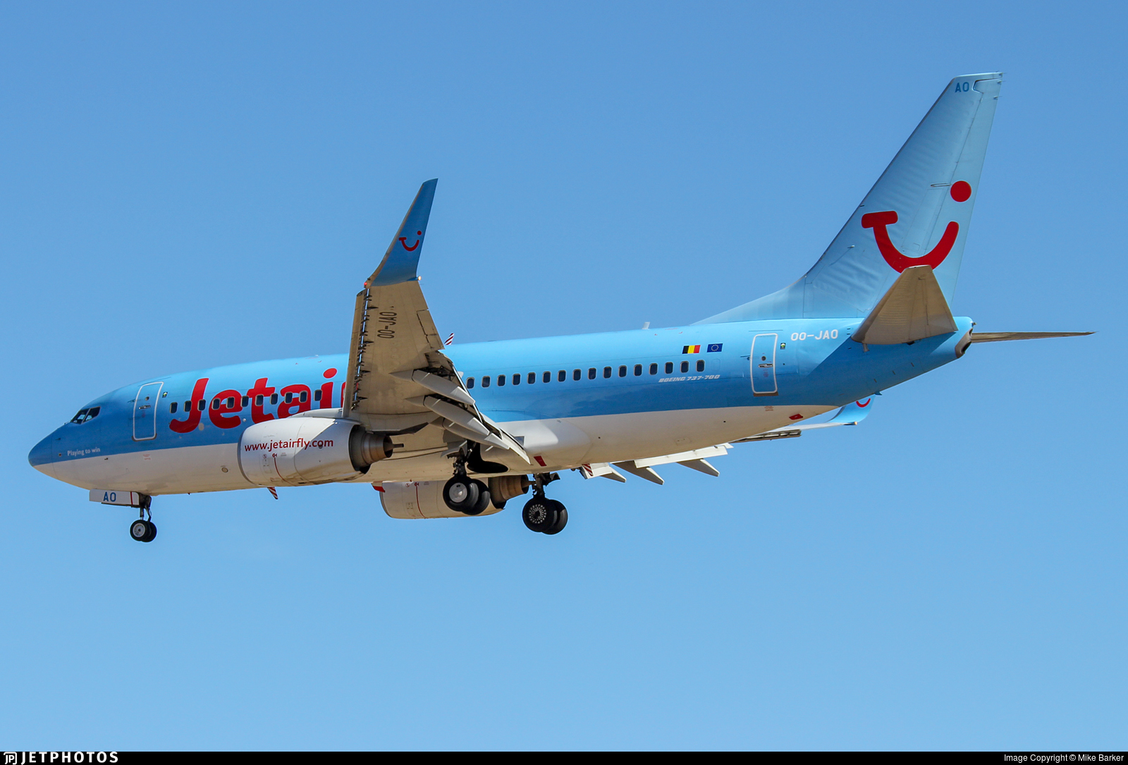 OO-JAO - Boeing 737-7K5 - Jetairfly