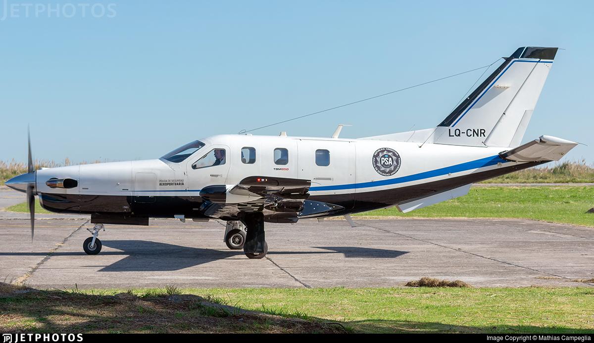 LQ-CNR - Socata TBM-850 - Argentine - Airport Security Police