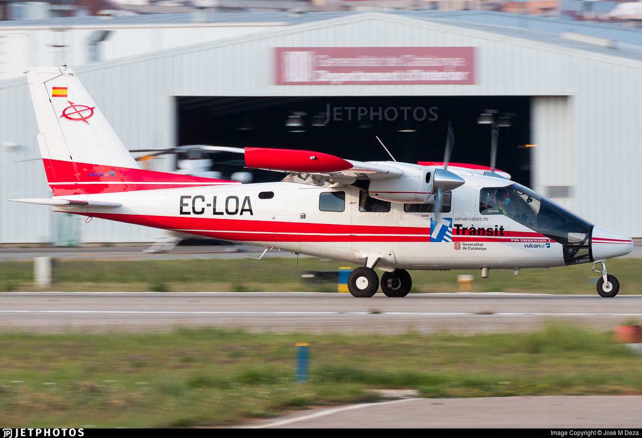 EC-LOA - Vulcanair P.68 Observer 2 - Spain - Government of Catalonia