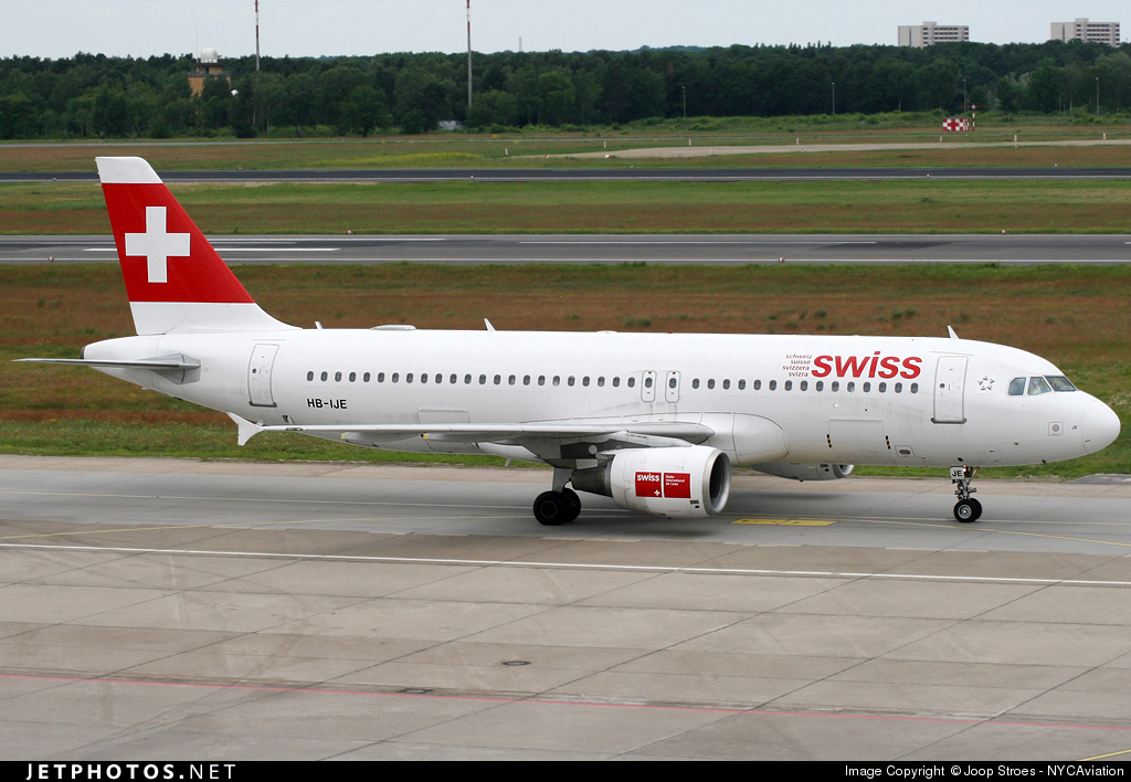 HB-IJE - Airbus A320-214 - Swiss