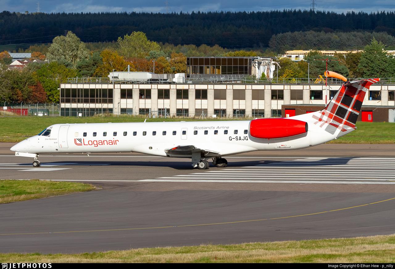 G-SAJG - Embraer ERJ-145EU - Loganair