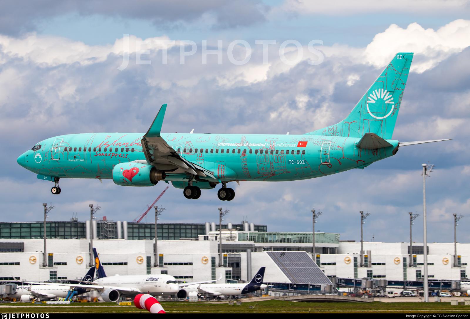 TC-SOZ - Boeing 737-8HX - SunExpress