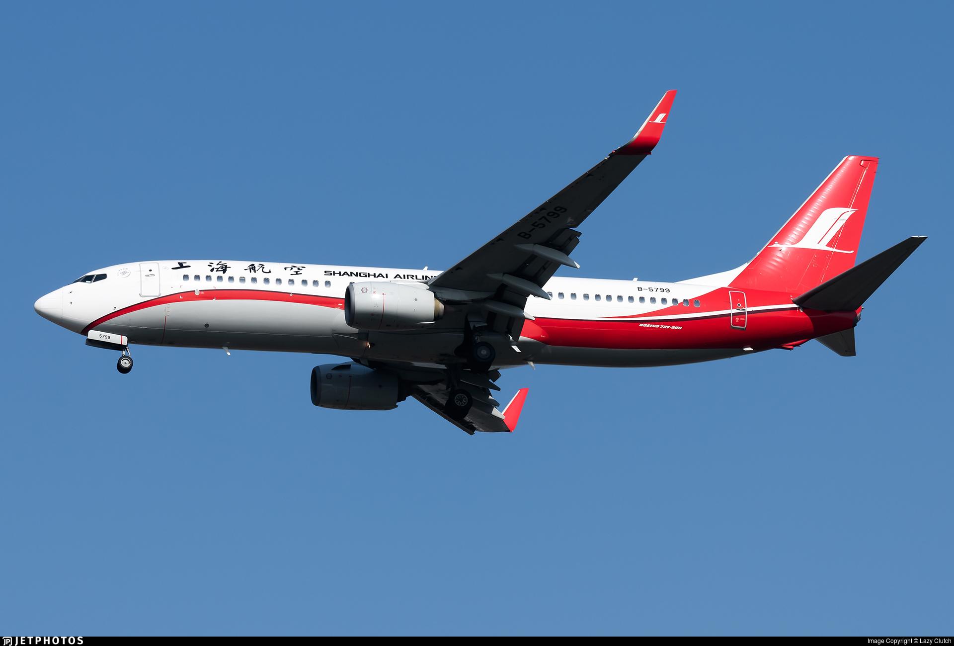 B-5799 - Boeing 737-86D - Shanghai Airlines