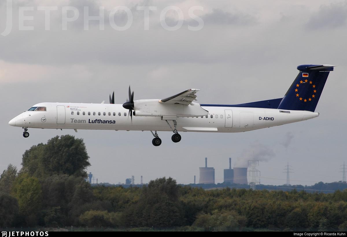 D-ADHD - Bombardier Dash 8-Q402 - Team Lufthansa (Augsburg Airways)
