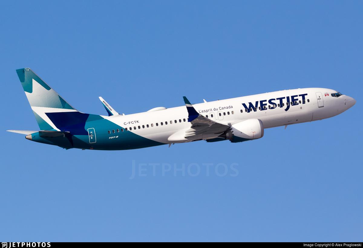 C-FCTK - Boeing 737-8 MAX - WestJet Airlines