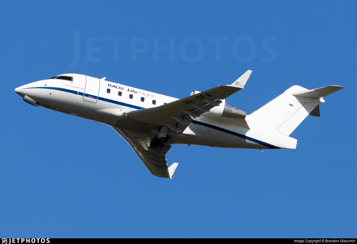 VH-OFA - Bombardier CL-600-2B16 Challenger 604 - LifeFlight Australia