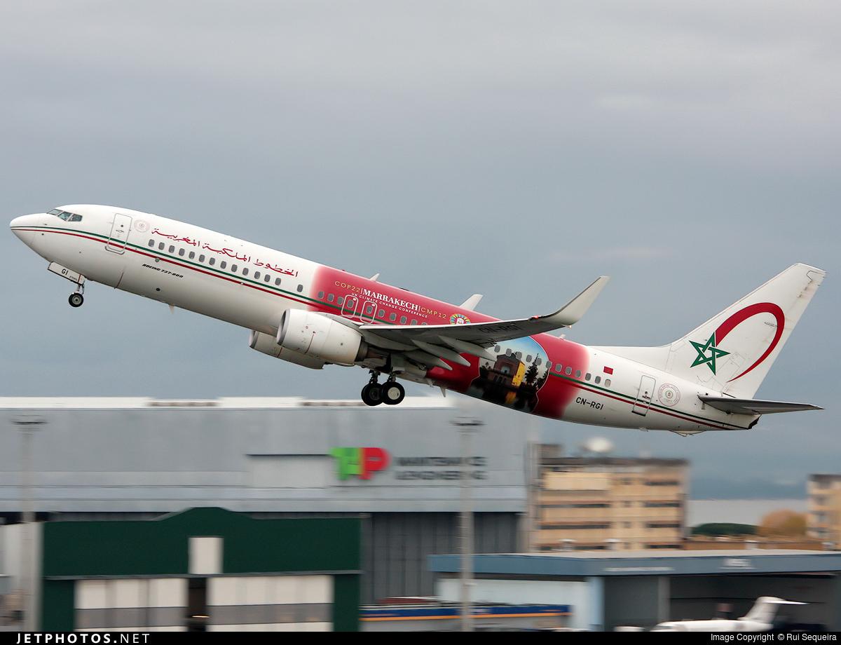CN-RGI - Boeing 737-86N - Royal Air Maroc (RAM)