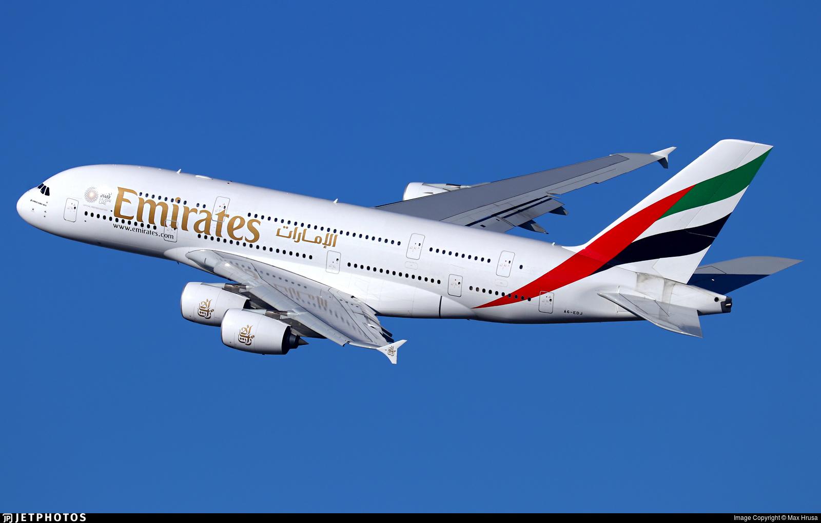 A6-EDJ - Airbus A380-861 - Emirates