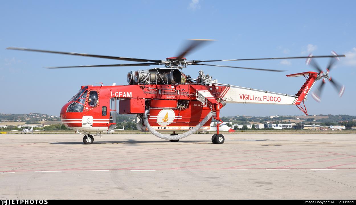 I-CFAM - Sikorsky S-64F Skycrane - Italy - Vigili del Fuoco