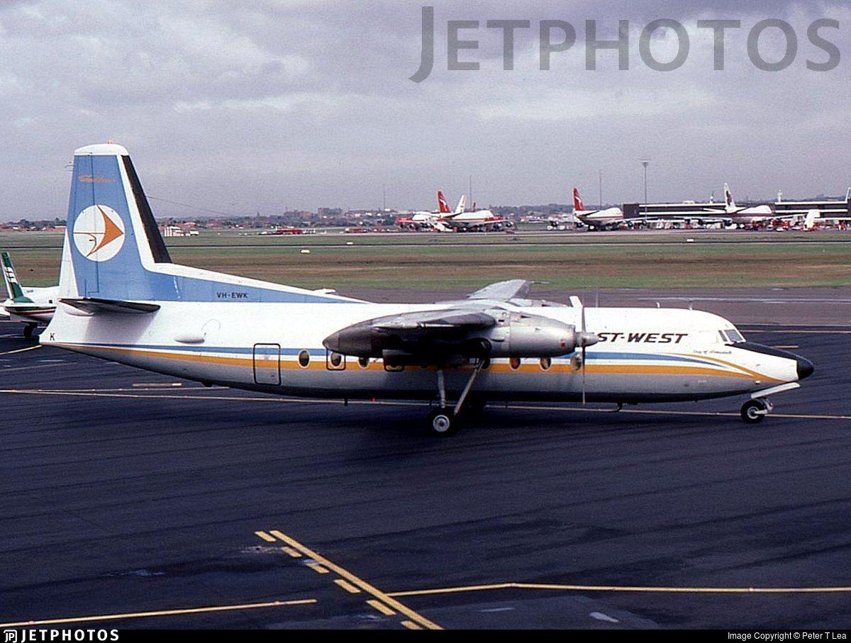 VH-EWK - Fokker F27-100 Friendship - East West Airlines