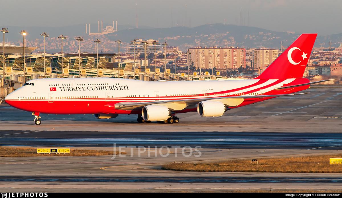 TC-TRK - Boeing 747-8ZV(BBJ) - Turkey - Government