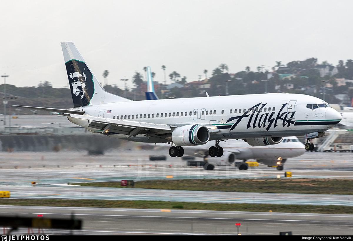N756AS - Boeing 737-4Q8 - Alaska Airlines