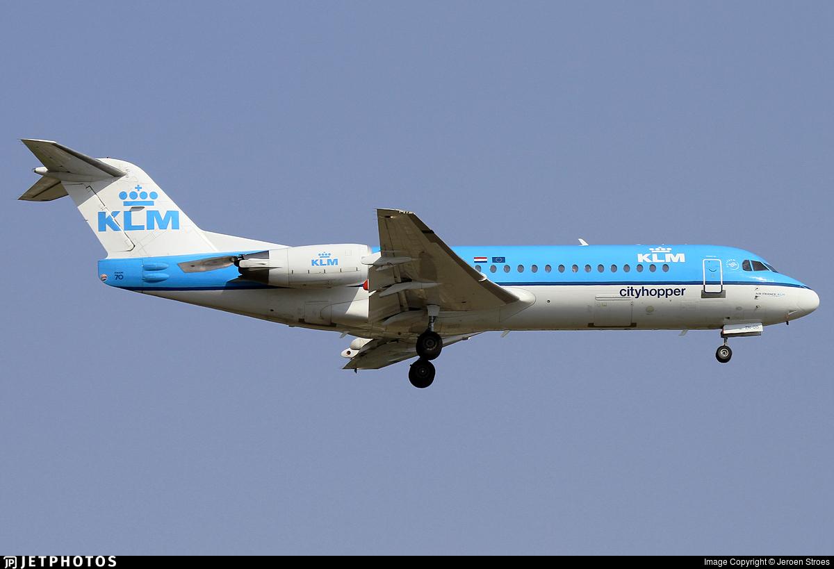 PH-KZN - Fokker 70 - KLM Cityhopper