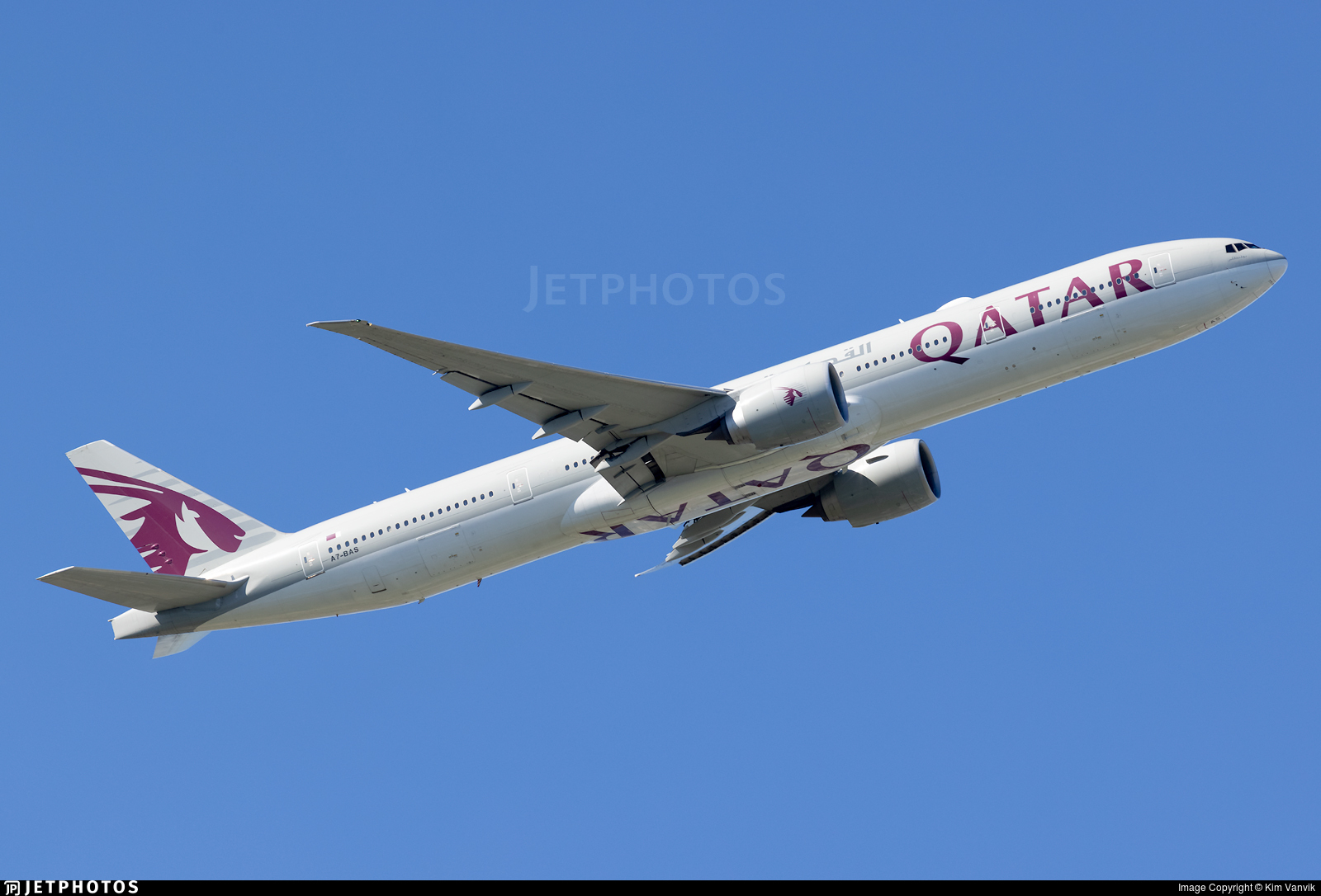 A7-BAS - Boeing 777-3DZER - Qatar Airways