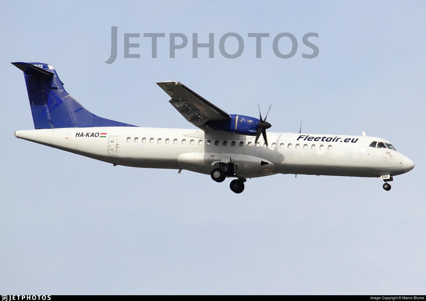 HA-KAO - ATR 72-202(F) - Fleet Air International