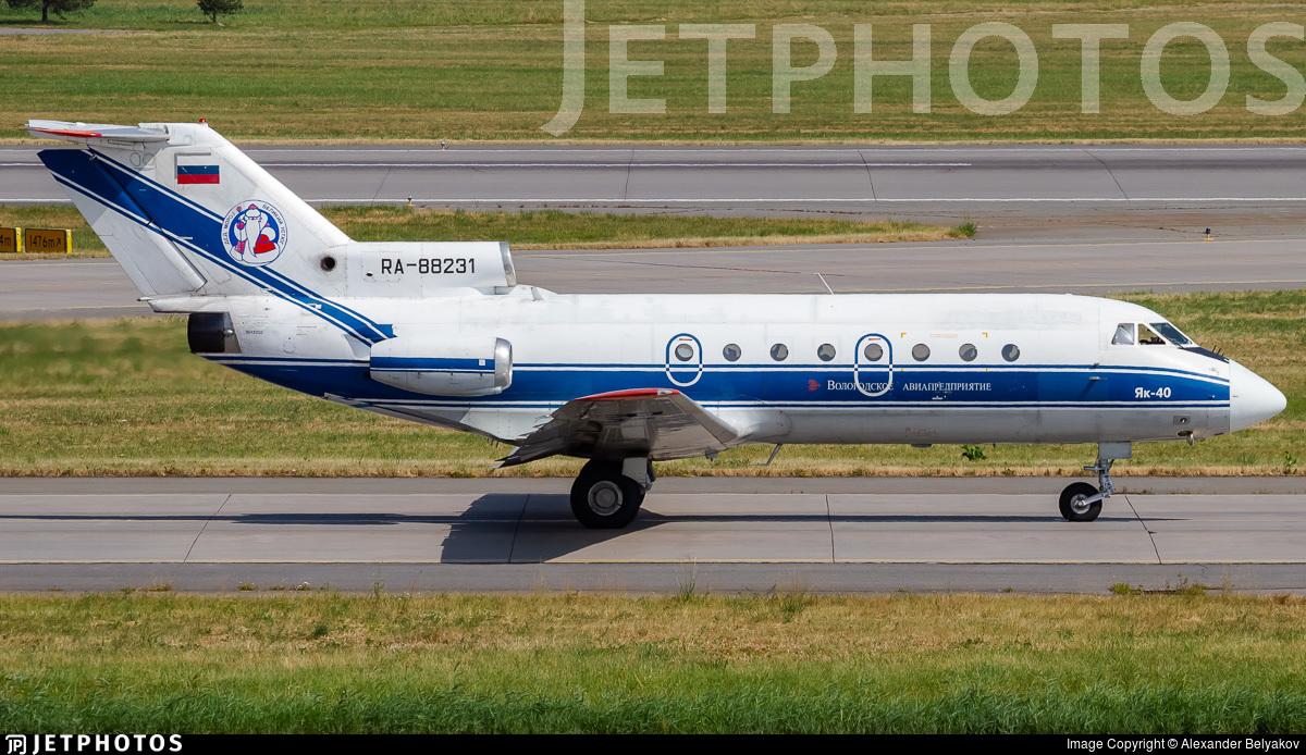 RA-88231 - Yakovlev Yak-40 - Vologda Air