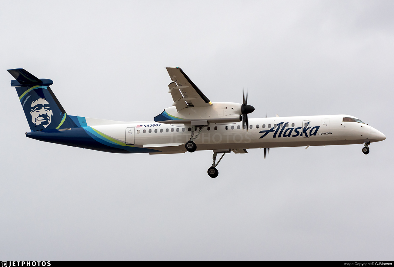 N436qx Bombardier Dash 8 Q402 Alaska Airlines Horizon