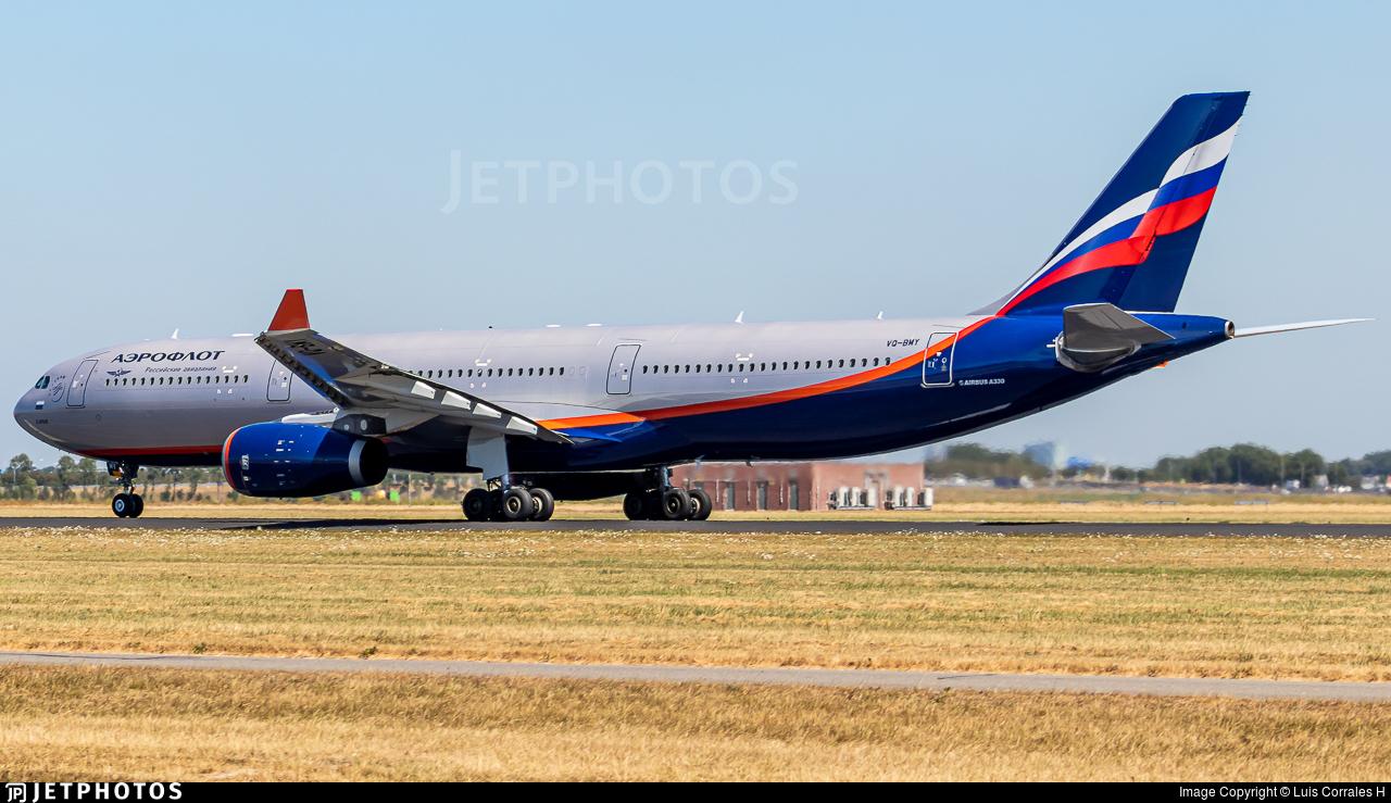 VQ-BMY - Airbus A330-343 - Aeroflot