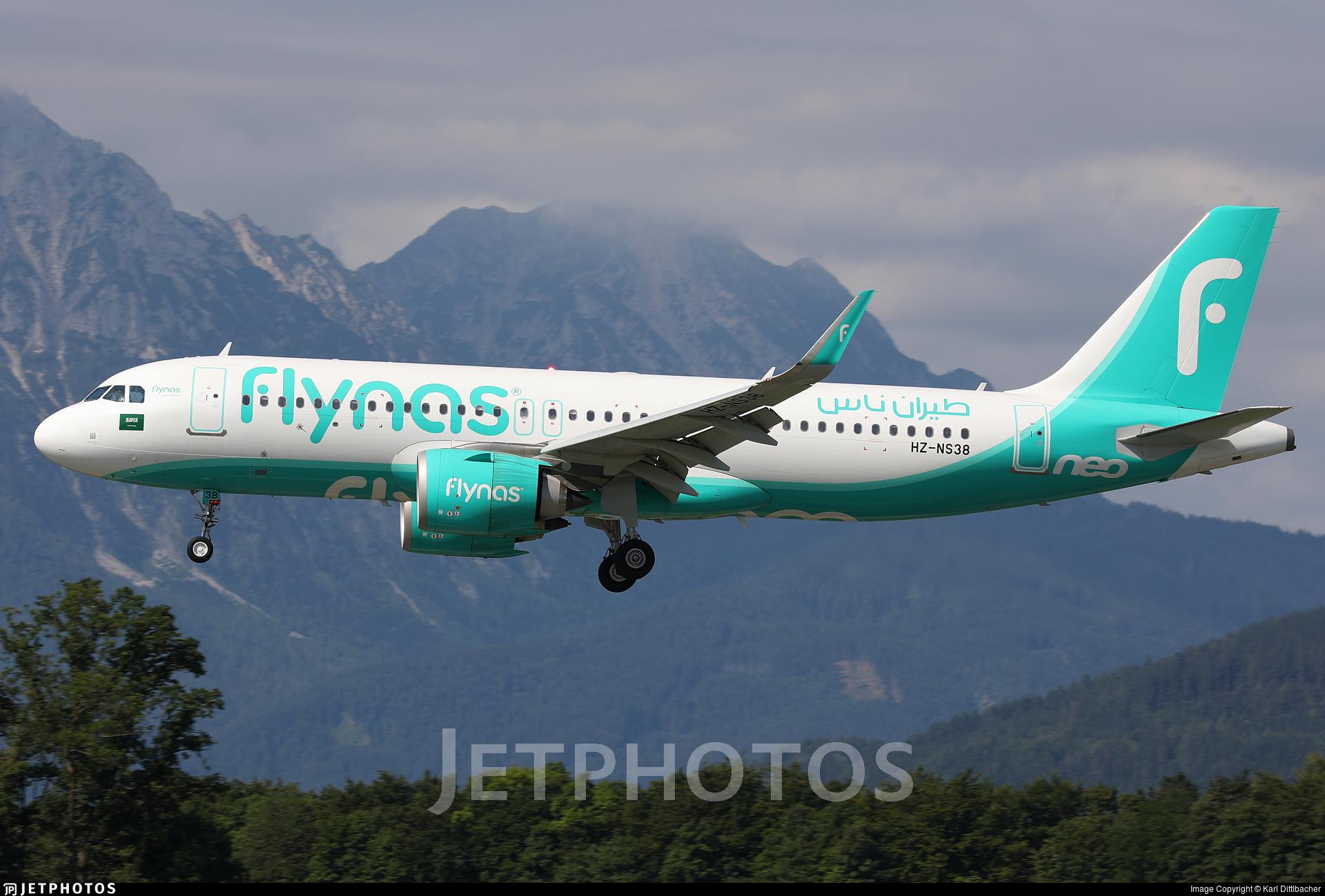 HZ-NS38 - Airbus A320-251N - Flynas