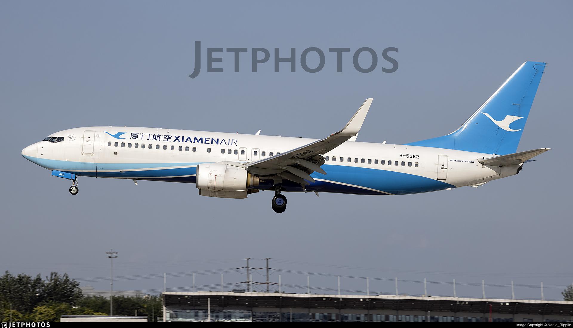 B-5382 - Boeing 737-86N - Xiamen Airlines