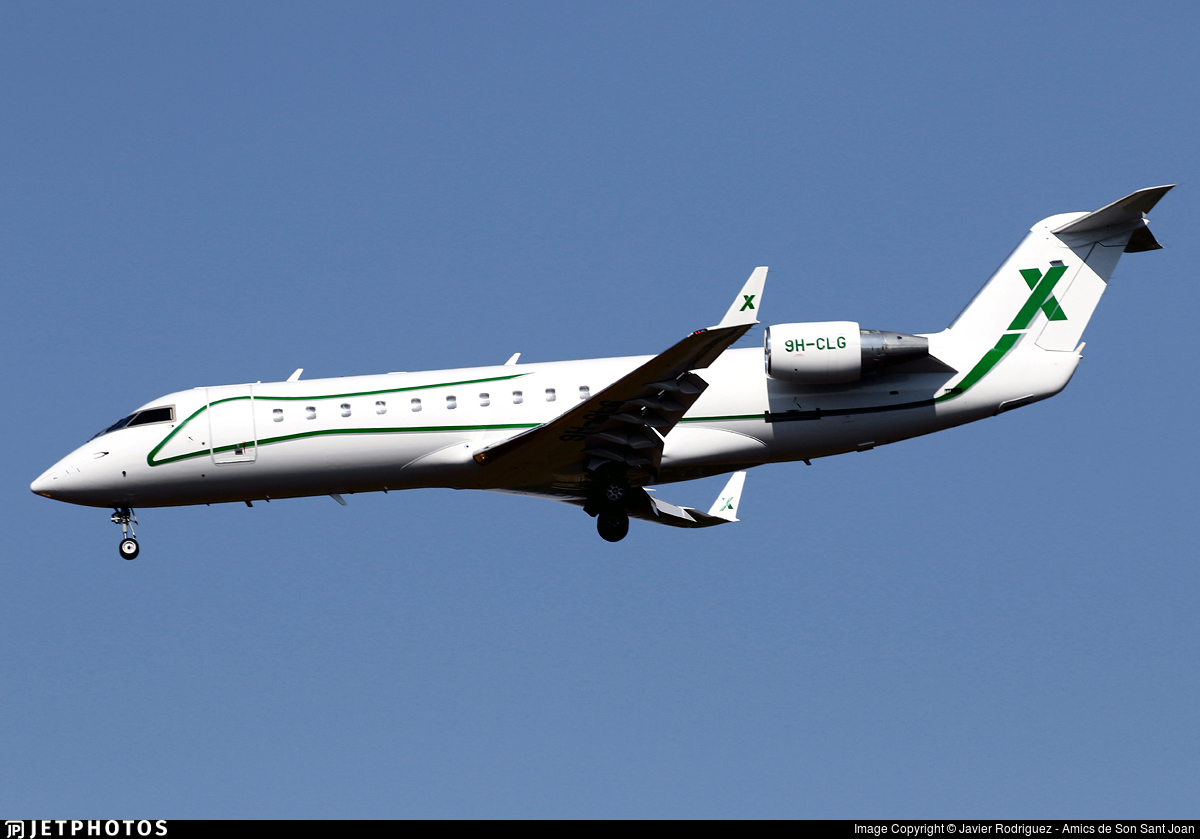 9H-CLG - Bombardier CL-600-2B19 Challenger 850 - Air X Charter