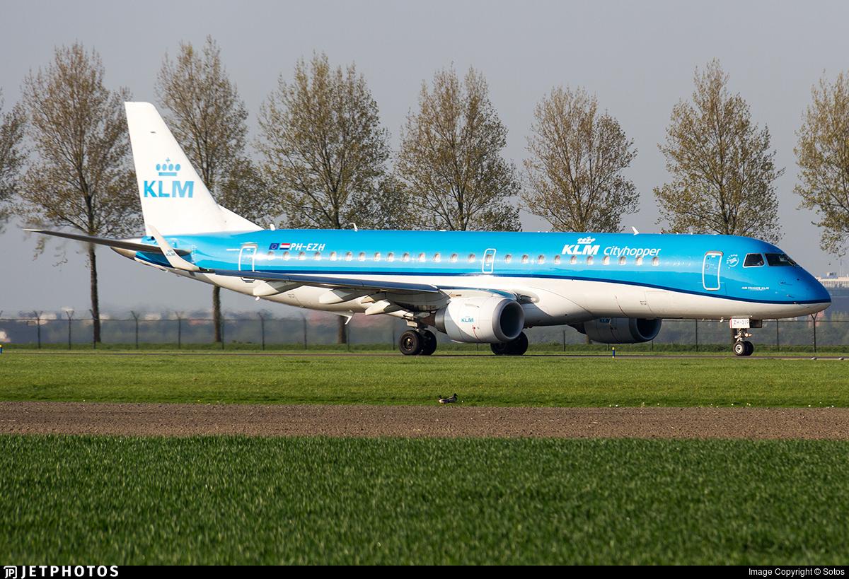 PH-EZH - Embraer 190-100STD - KLM Cityhopper