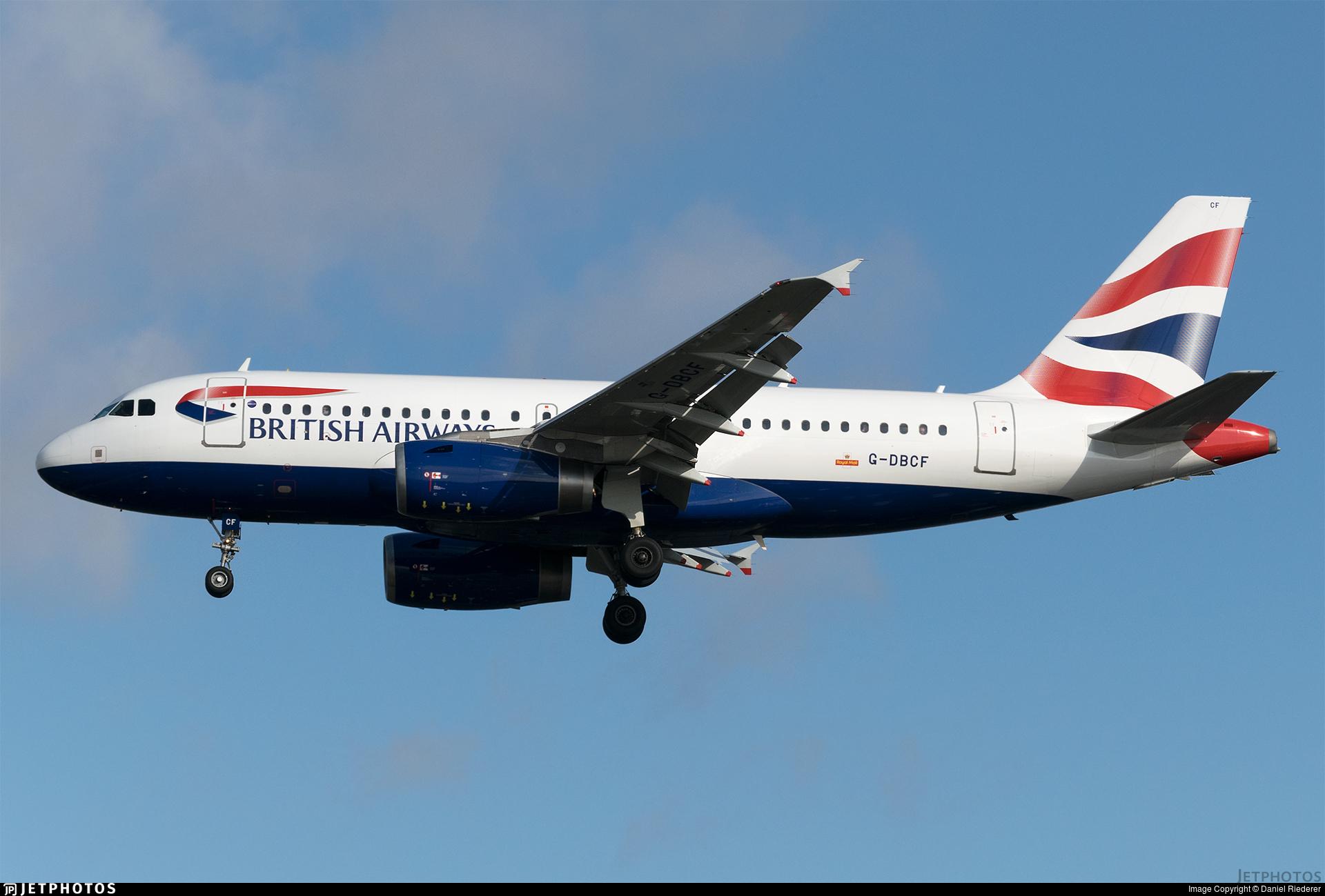 G-DBCF - Airbus A319-131 - British Airways