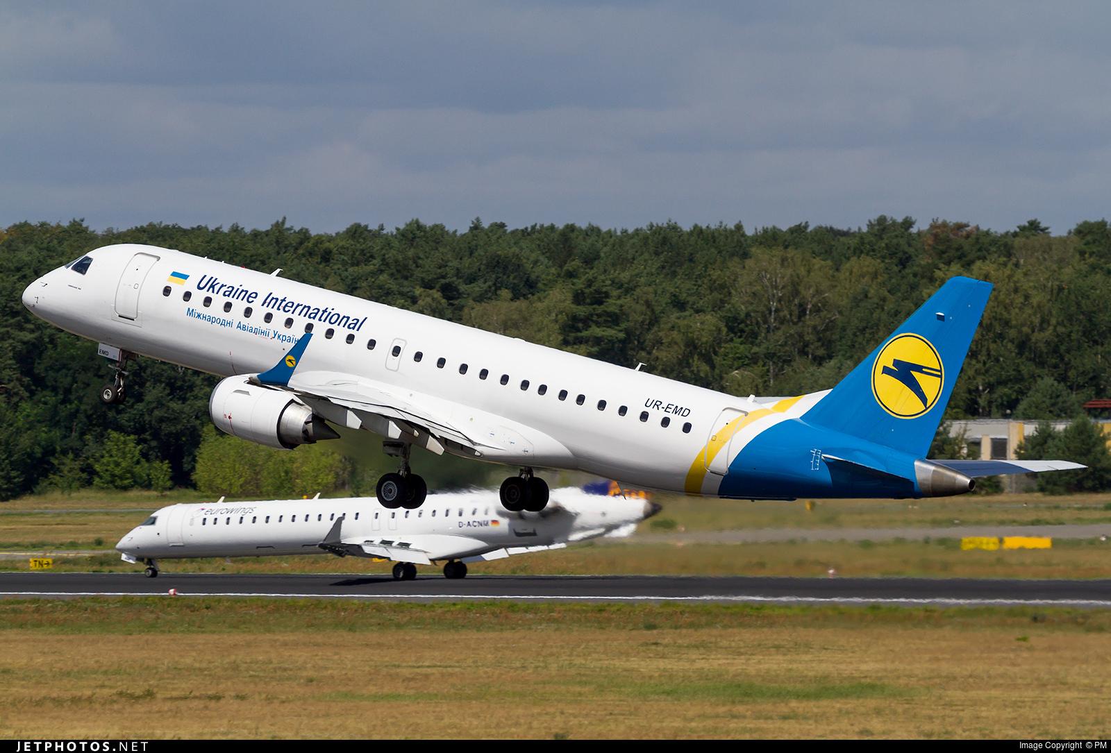 UR-EMD - Embraer 190-100STD - Ukraine International Airlines