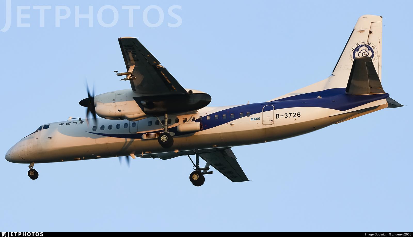 B-3726 - Xian MA-60 - China - China Meteorological Administration