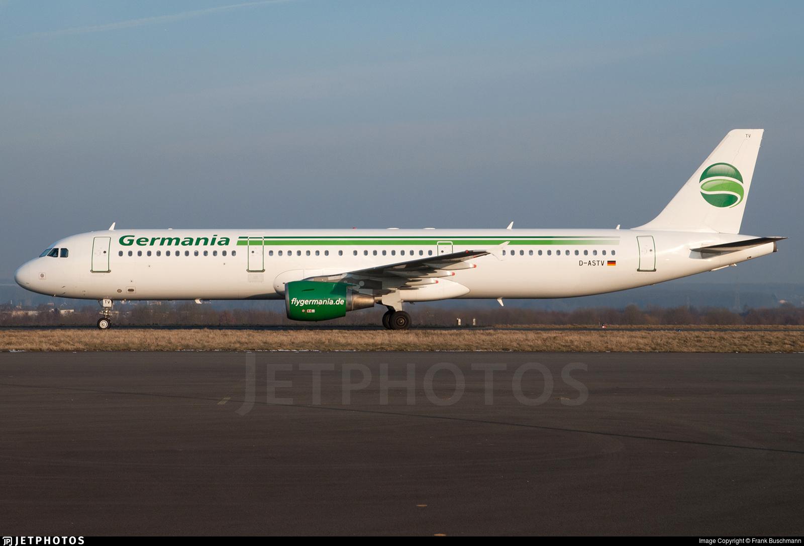 D-ASTV - Airbus A321-211 - Germania