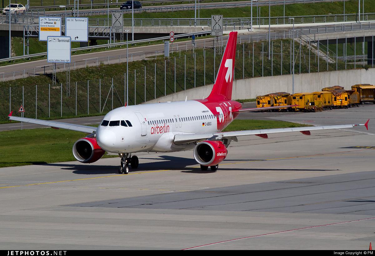D-ABGS - Airbus A319-112 - Air Berlin