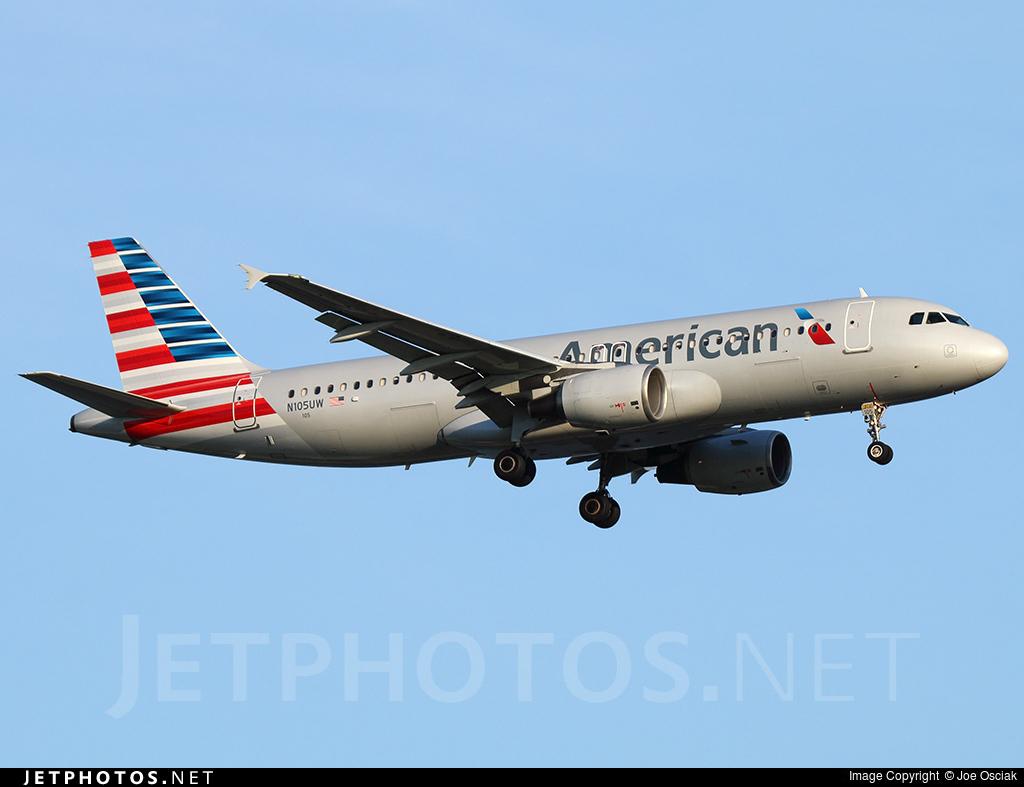 N105UW - Airbus A320-214 - American Airlines