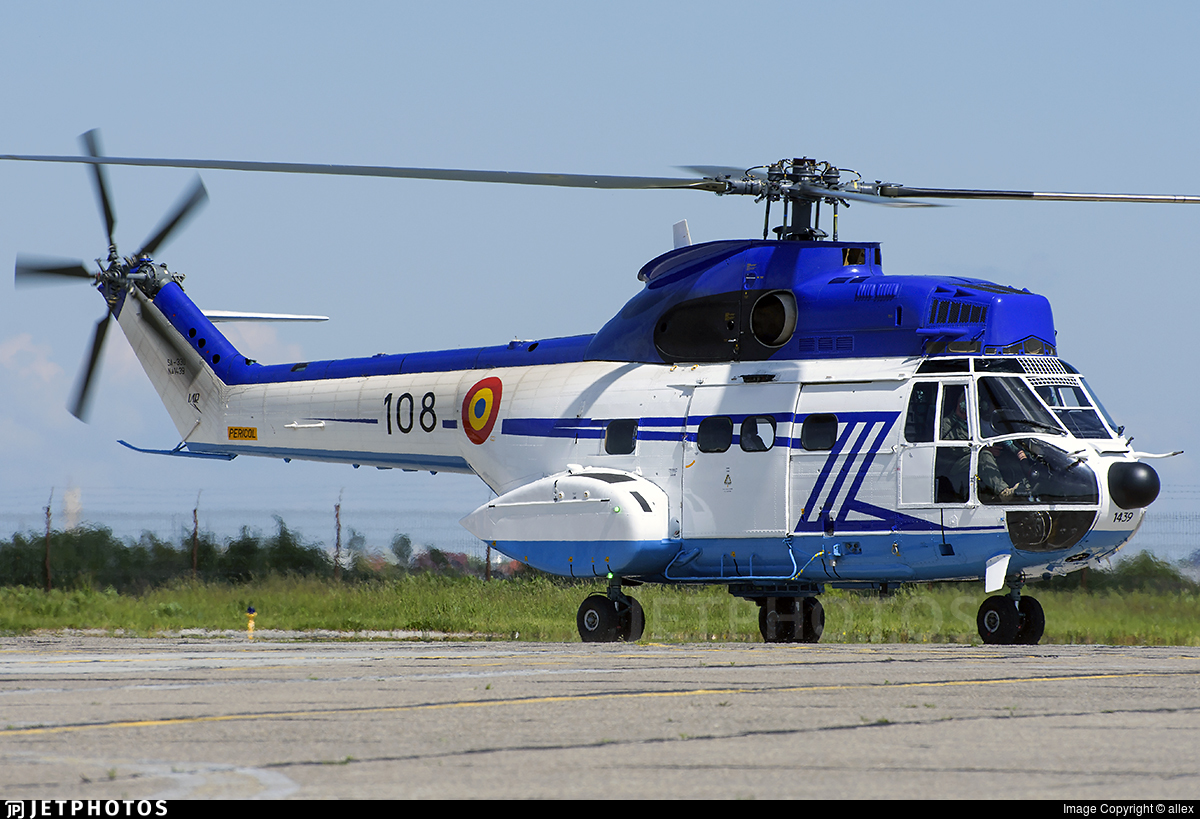 108 - Aérospatiale SA 330B Puma - Romania - Air Force