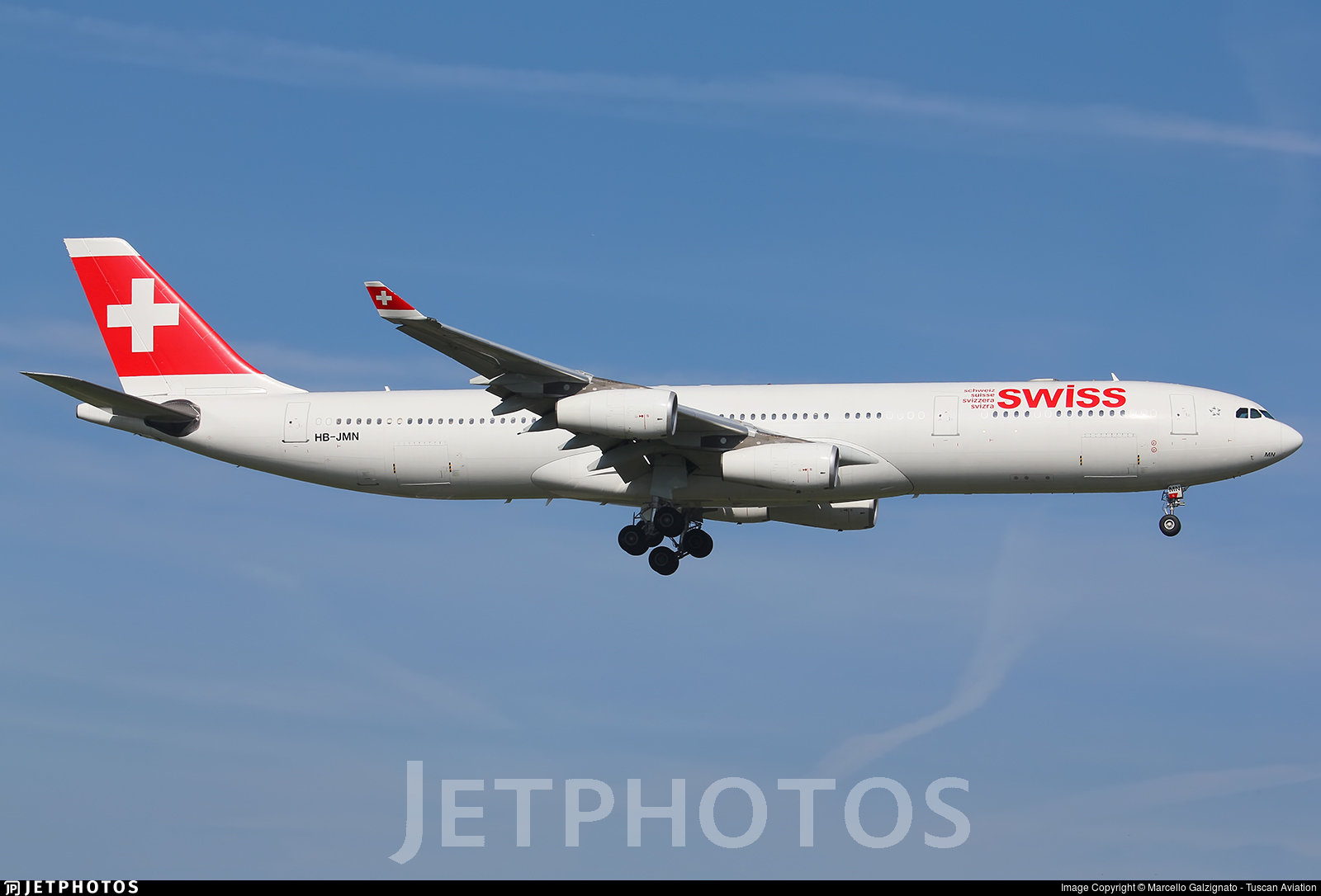 HB-JMN - Airbus A340-313X - Swiss