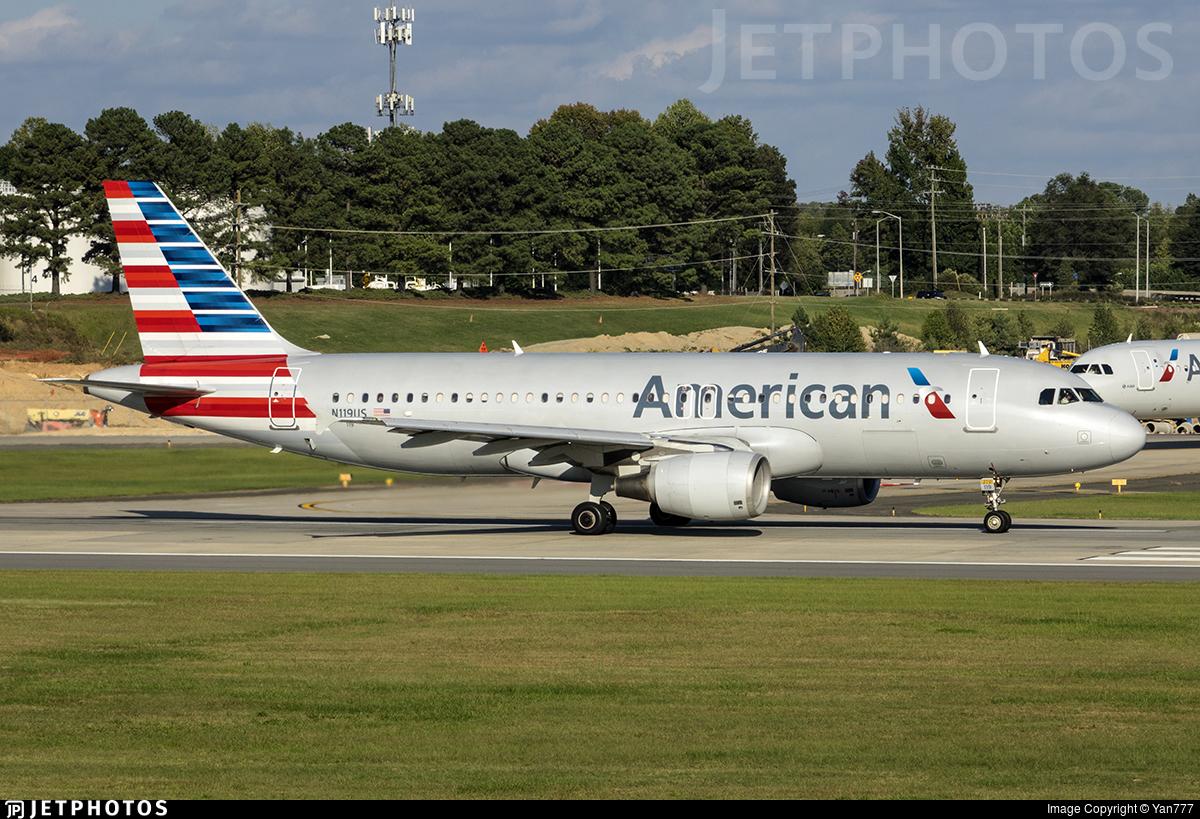 N119us Airbus A320 214 American Airlines Yan777