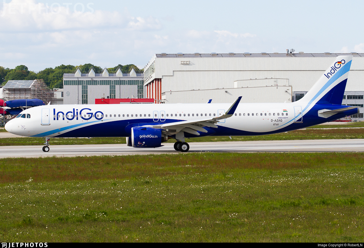 D-AZAQ - Airbus A321-271NX - IndiGo Airlines