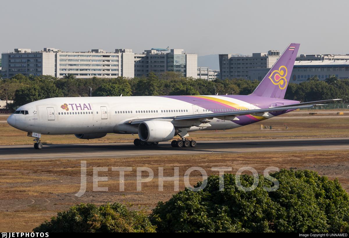 HS-TJA - Boeing 777-2D7 - Thai Airways International