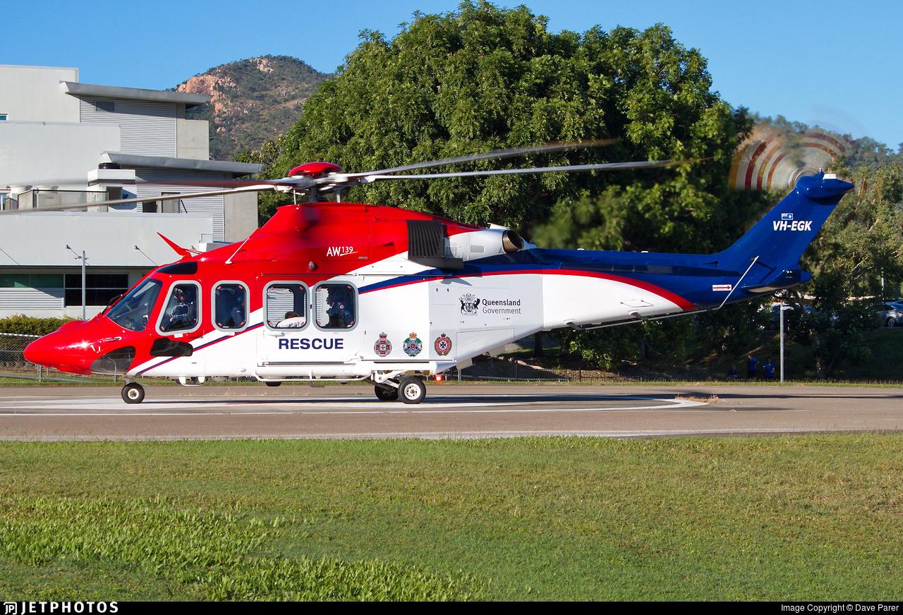 VH-EGK - Agusta-Westland AW-139 - Australia - Queensland Government