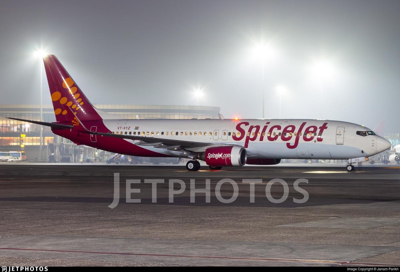 VT-SYZ - Boeing 737-85R - SpiceJet