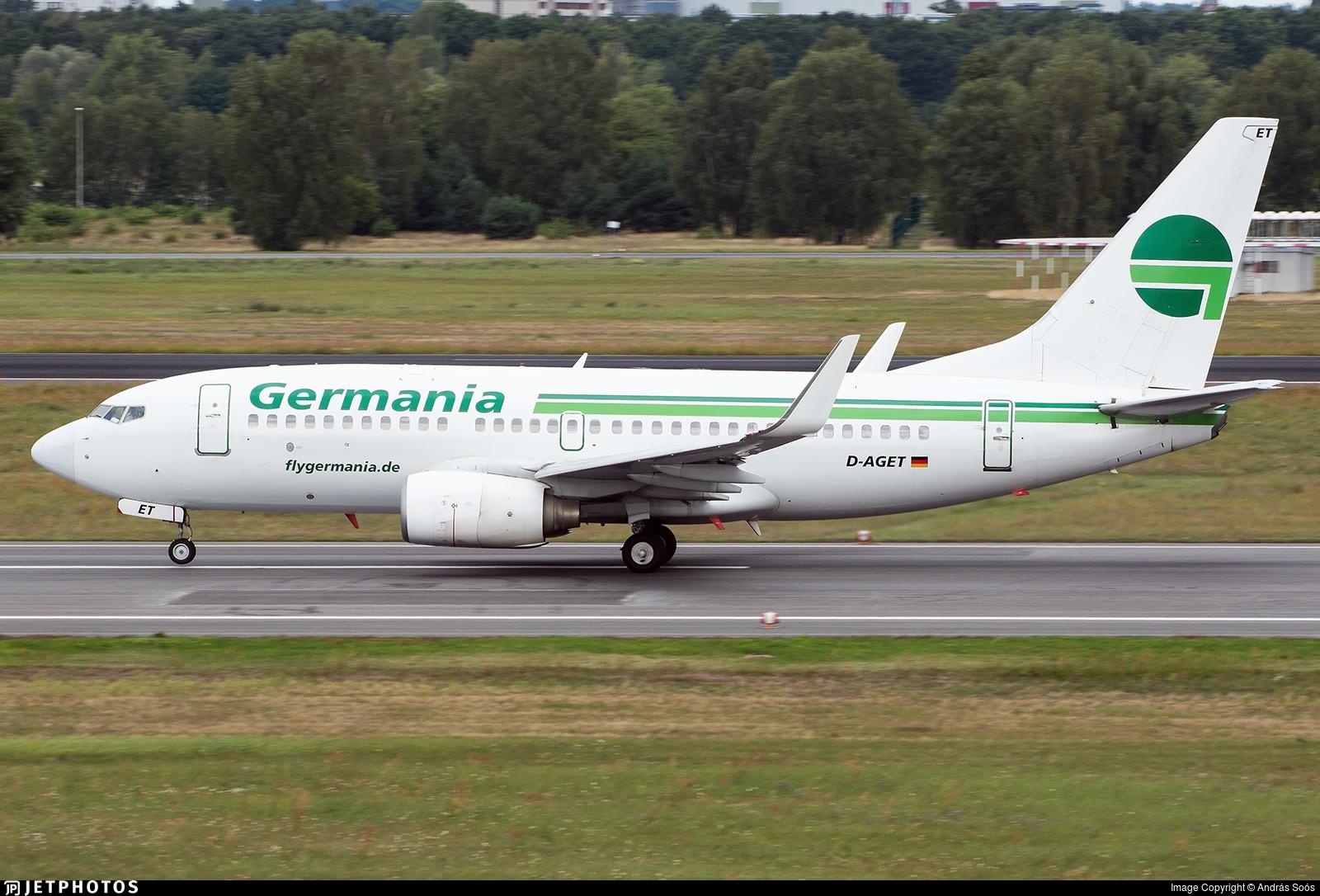 D-AGET - Boeing 737-75B - Germania